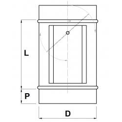 Regulačná klapka tesná s prípravou na servo