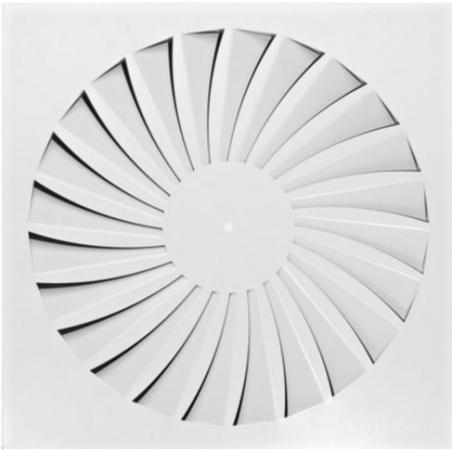 Dralldurchlass mit radial angeordneten Luftleitelementen