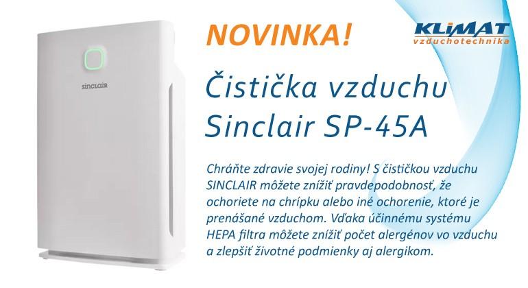 Filtrácia vzduchu Sinclair SP-45A